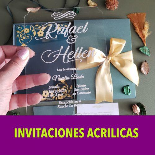 Invitación Acrílica
