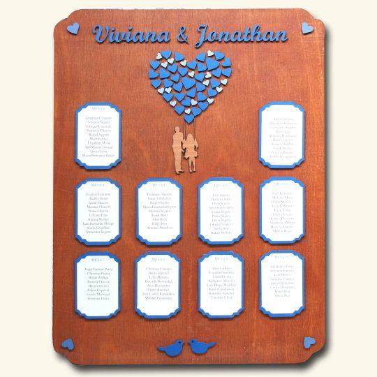 Rotafolio para ubicación de invitados