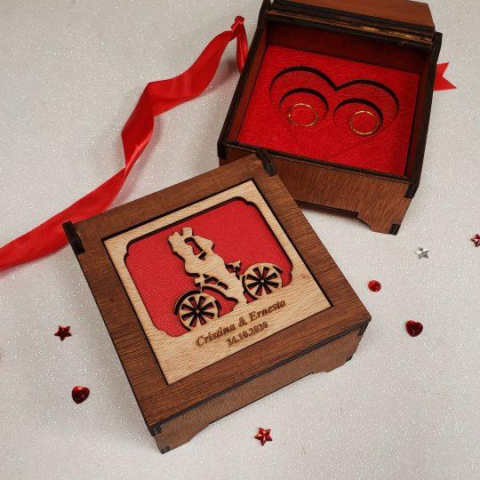 Caja para anillos de Bodas