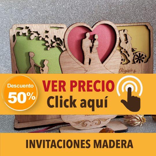 Promo Invitaciones de madera