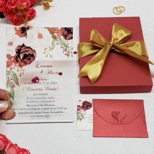 Invitación de Bodas Acrilic Colors 09C